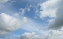 Puffy clouds Royalty Free Stock Photography
