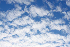 Puffy clouds. On blue sky Stock Photography