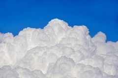 Puffy clouds. And blue sky Stock Photos