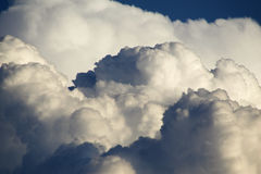 Puffy clouds. Picture of clouds after a storm Stock Images