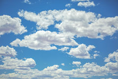 Puffy clouds with ample copy space Royalty Free Stock Photography