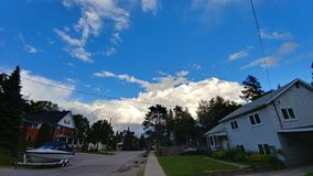 Puffy clouds Stock Images