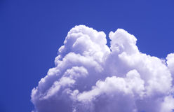 Puffy Clouds. And blue sky Royalty Free Stock Photos