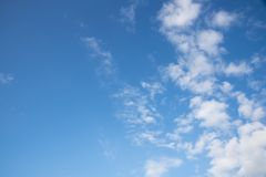Puffy clouds and blue sky. Beautiful puffy clouds and blue sky Royalty Free Stock Photos