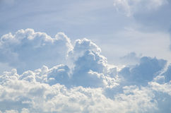 Puffy clouds and blue sky. In sunny day Royalty Free Stock Photography