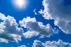 Puffy clouds Royalty Free Stock Image