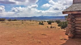 Puffy Clouds over Ghost Ranch Royalty Free Stock Photo