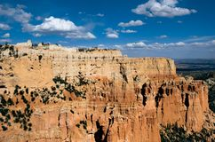 Puffy Clouds Floating Over Bryce Canyon National Park royalty free stock photography