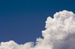 Puffy Clouds On A Blue Sky. Stock Photography