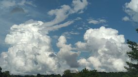 Puffy Clouds after a Storm royalty free stock image