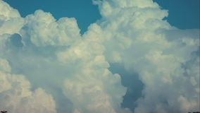 Puffy clouds before thunderstorm, daytime. Close up view. 4K 3840 x 2160 ultra high definition footage stock video