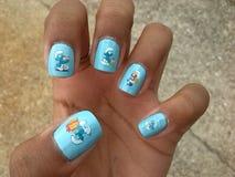 Puffy nail art Stock Images