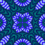 Puffy quilt. Abstract fractal image resembling a puffy quilt Stock Image