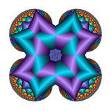 Puffy rainbow blocks pillow. Abstract fractal image resembling a puffy rainbow blocks pillow Stock Image