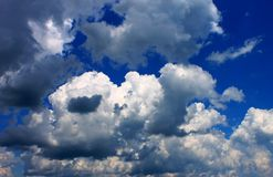 Puffy Vibrant Summer Clouds Royalty Free Stock Photos