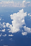 Puffy white cloud blue sky Stock Image