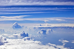 Puffy white cloud blue sky Royalty Free Stock Photos