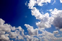 Puffy white cloud Royalty Free Stock Photography