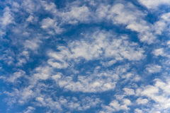 Puffy white clouds Stock Images