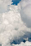 Puffy White Clouds. Against blue sky Stock Photos