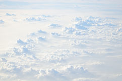 Puffy white clouds Royalty Free Stock Images