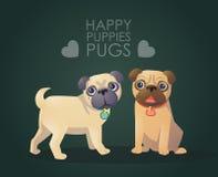 Pug stock illustratie