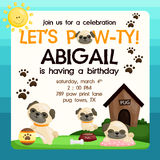 Pug birthday card Royalty Free Stock Photo