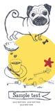 Pug card Stock Image