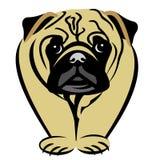Pug Cartoon Clip Art royalty free stock images