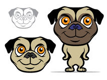 Pug Cartoon Mascot Stock Photo