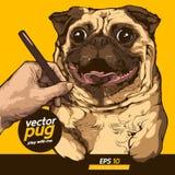 Pug dog vector illustration