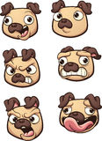 Pug dos desenhos animados Fotografia de Stock Royalty Free