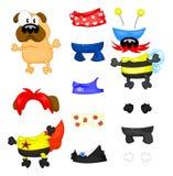 Pug e roupa Fotografia de Stock Royalty Free