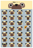 Pug emoji icons Stock Photo