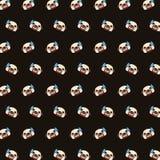 Pug - emoji Muster 07 stock abbildung