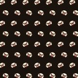 Pug - emoji pattern 01 stock illustration