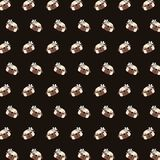 Pug - emoji pattern 35 stock illustration