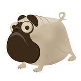 Pug engraçado dos desenhos animados Fotografia de Stock Royalty Free