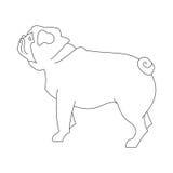 Pug hound line Stock Photography