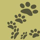 Pug-Kennzeichen des Tigers im Wald vektor abbildung