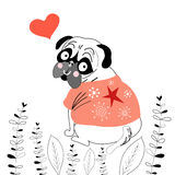 Pug lover Stock Images