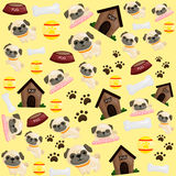 Pug puppy background. A vector of Pug puppy background vector illustration