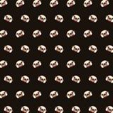 Pug - teste padrão 01 do emoji ilustração stock
