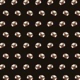 Pug - teste padrão 23 do emoji ilustração stock