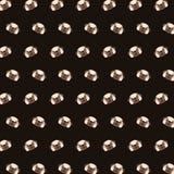 Pug - teste padrão 29 do emoji ilustração stock
