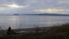 Puget dźwięka ferryboat zbiory wideo