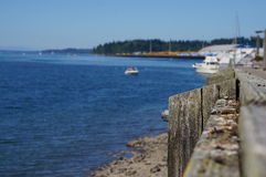 Puget sound. The Puget sound as seen from the pier Royalty Free Stock Photo