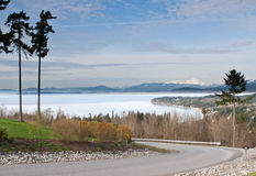 Puget Sound from Camino Island Stock Photography