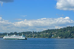 Puget Sound Ferry Stock Photo