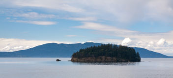 Puget Sound with Island Royalty Free Stock Images